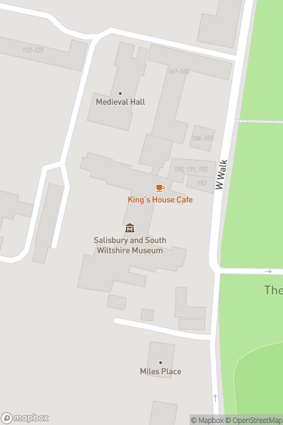A map indicating the location of The Salisbury Museum
