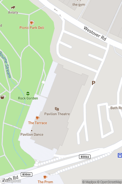 A map indicating the location of Bournemouth Pavilion Theatre