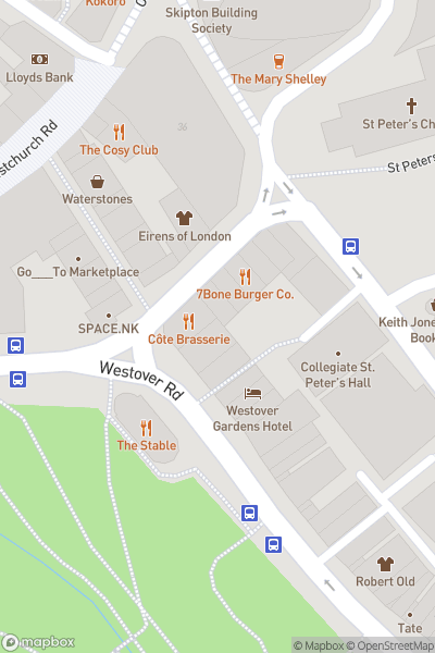 A map indicating the location of 10% off Ms Sandwich