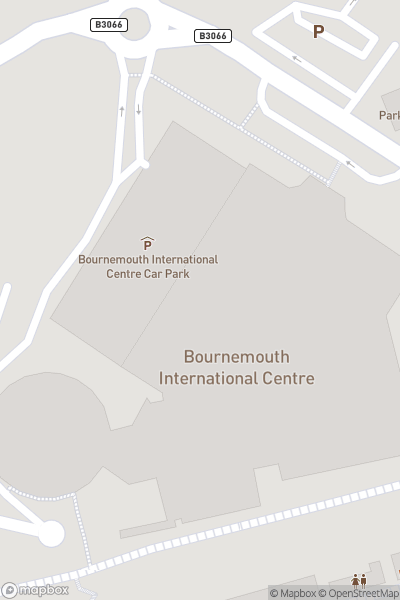 A map indicating the location of Bride: The Wedding Show Bournemouth