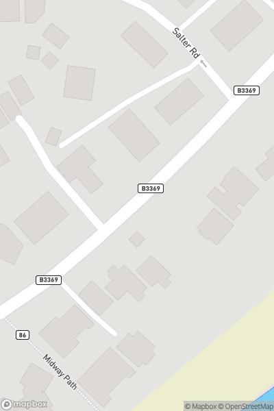 A map indicating the location of Sandbanks Beach