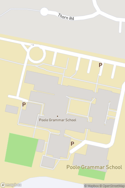 A map indicating the location of Poole Grammar School