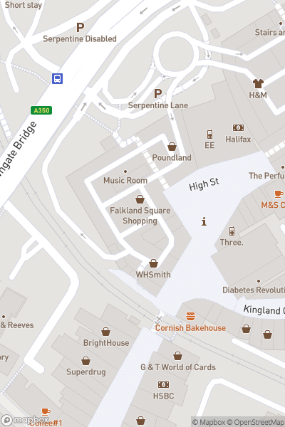 A map indicating the location of Poole Lantern Parade