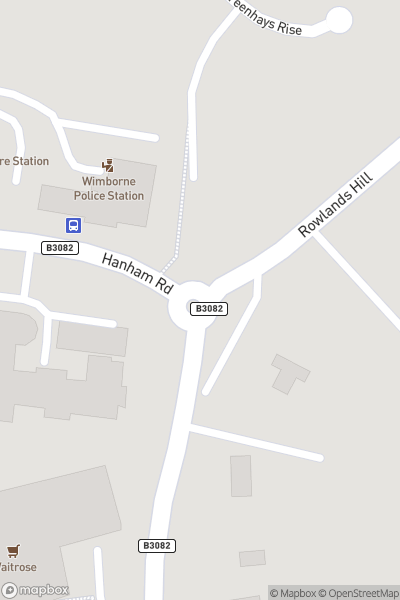 A map indicating the location of Wimborne Minster Folk Festival