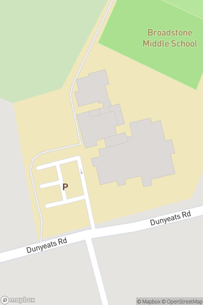 A map indicating the location of Broadstone Middle School