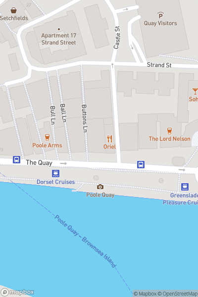 A map indicating the location of Poole Harbour Boat Show