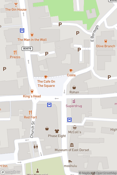 A map indicating the location of New 13 bus fun day