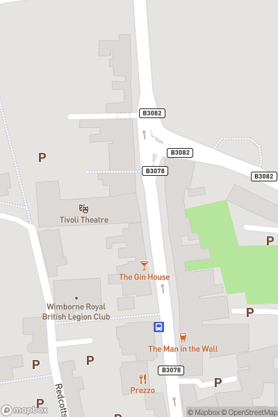 A map indicating the location of Tivoli Theatre and Cinema