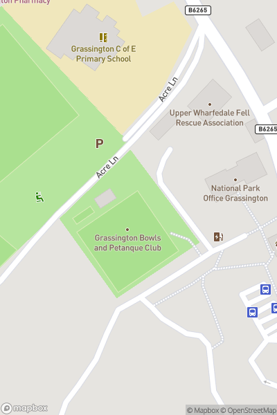 A map indicating the location of Grassington National Park Centre