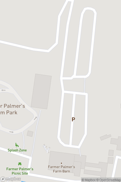 A map indicating the location of Farmer Palmer's Farm Park