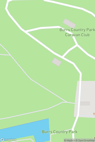 A map indicating the location of Burrs Country Park