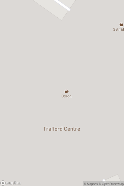 A map indicating the location of Manchester Trafford Centre Summer Trips