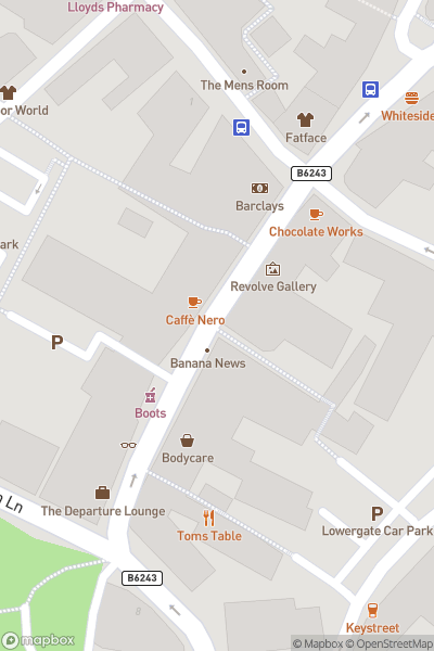 A map indicating the location of Clitheroe Castle Museum