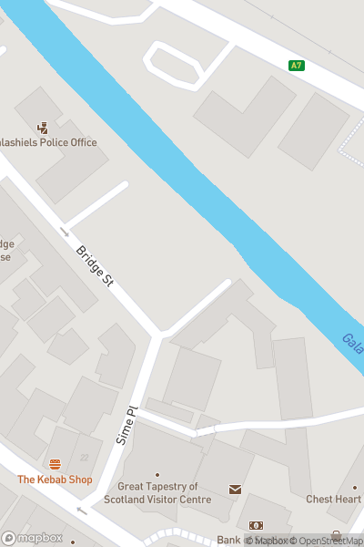 A map indicating the location of Christmas Craft Fair and Entertainment - MacArts Centre