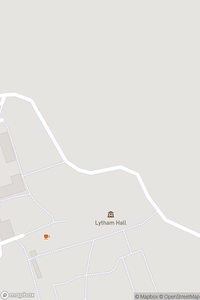 A map indicating the location of Lytham Hall