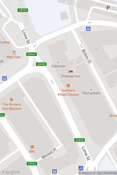 A map indicating the location of Liverpool Christmas Market Trips