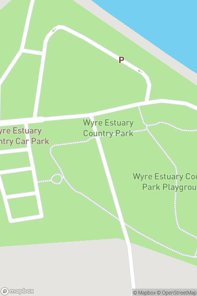 A map indicating the location of Wyre Estuary Country Park