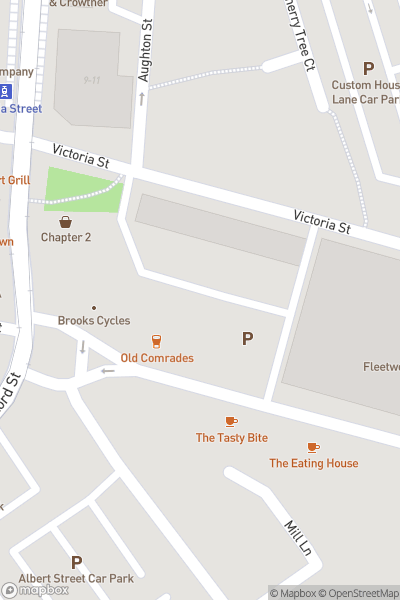 A map indicating the location of Fleetwood Market
