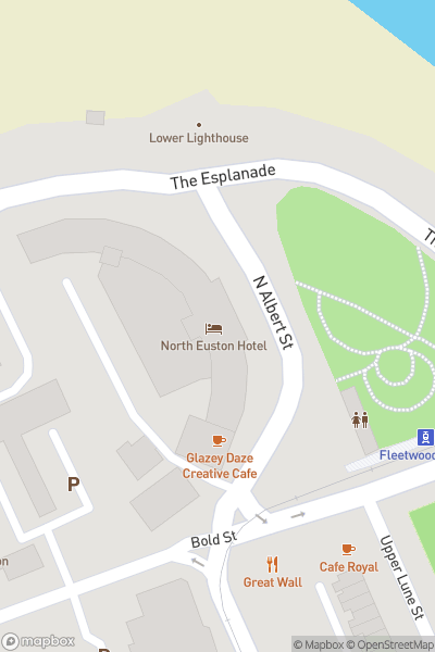 A map indicating the location of The North Euston Hotel