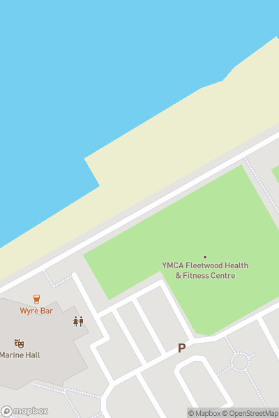 A map indicating the location of Fleetwood Leisure Centre