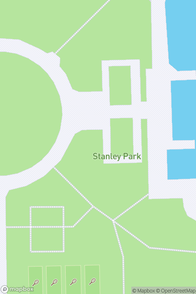 A map indicating the location of Stanley Park