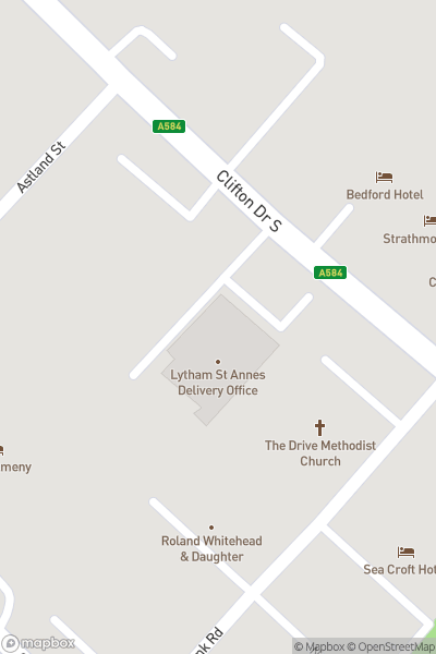 A map indicating the location of St Annes Promenade Gardens & Lifeboat Memorial