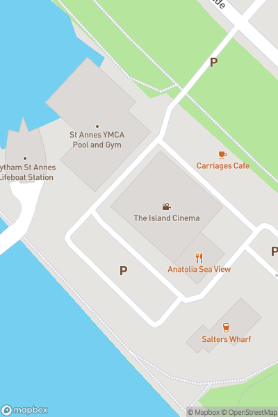 A map indicating the location of Island Cinemas