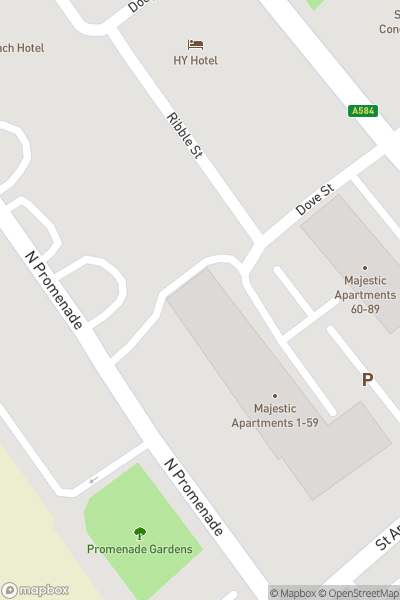 A map indicating the location of Ashton Gardens