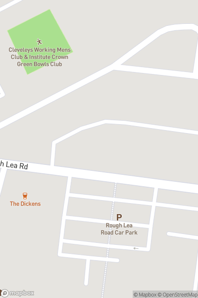 A map indicating the location of Cleveleys Shopping Centre