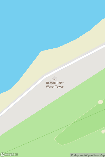 A map indicating the location of Rossall Point Observation Tower