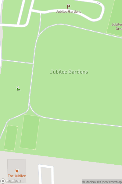 A map indicating the location of Jubilee Gardens