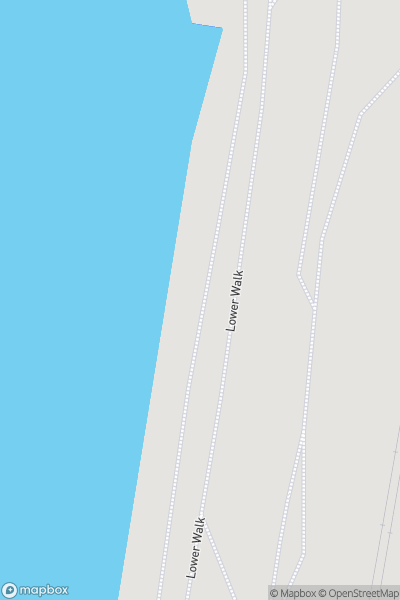 A map indicating the location of Cleveleys Promenade
