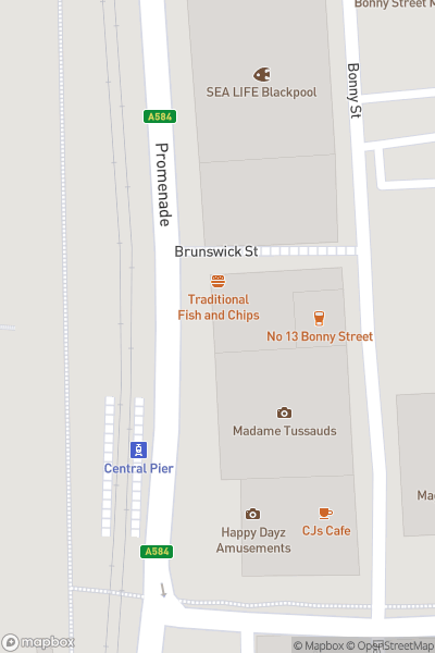 A map indicating the location of Madame Tussauds