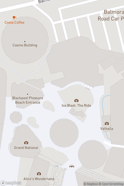 A map indicating the location of Pleasure Beach