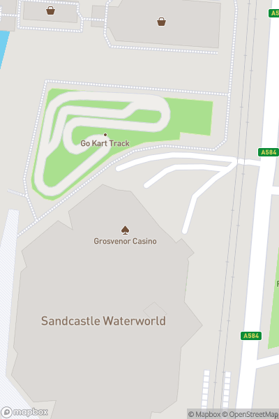 A map indicating the location of Karting 2000 Raceway