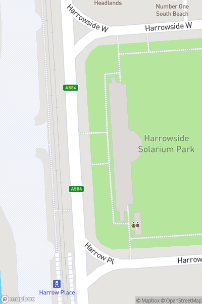 A map indicating the location of Great Promenade Show