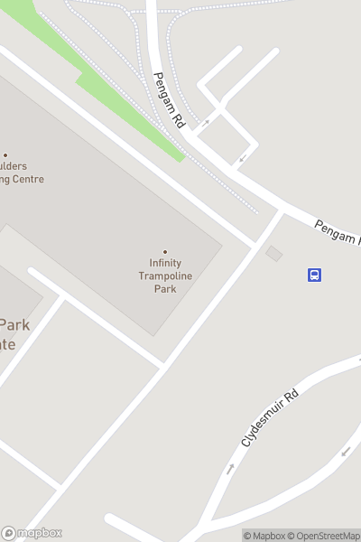 A map indicating the location of Infinity Trampoline Park