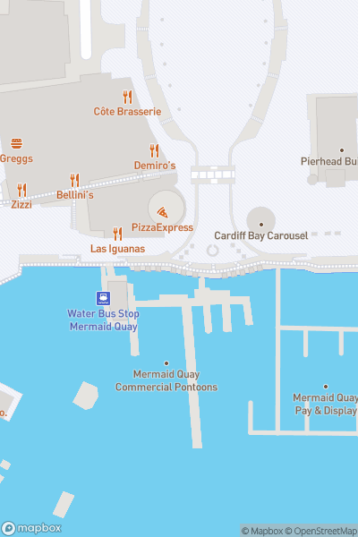 A map indicating the location of Cardiff Boat Tours - Princess Katharine