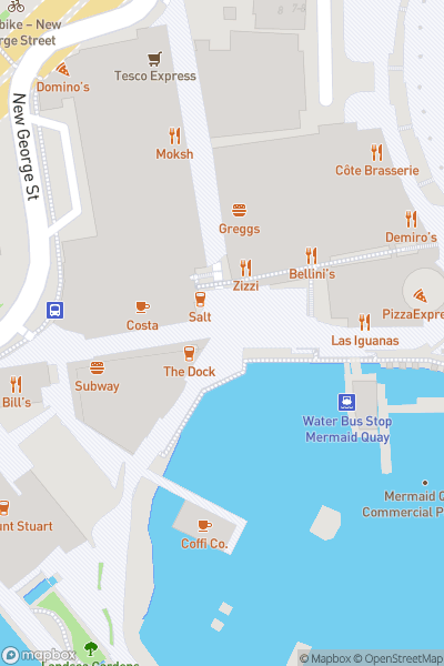 A map indicating the location of Cardiff Bay