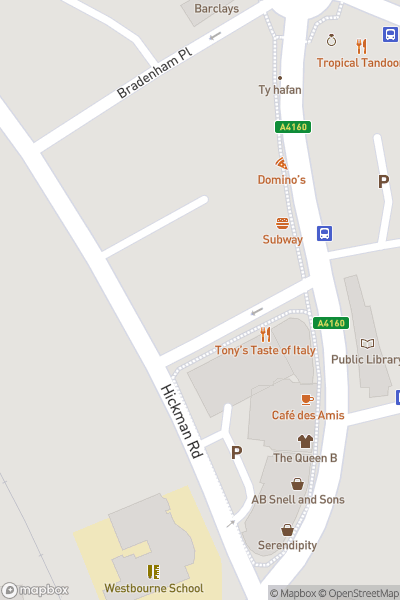 A map indicating the location of Dotty Pots Ceramic Painting Studio
