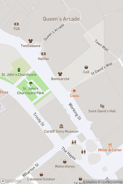 A map indicating the location of Christmas Markets