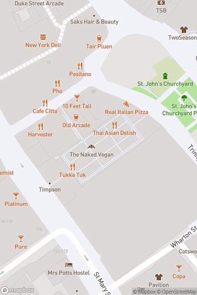 A map indicating the location of Cardiff Market