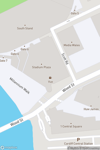 A map indicating the location of Superbowl