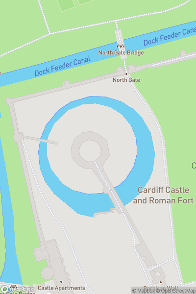 A map indicating the location of Paul Weller at Cardiff Castle