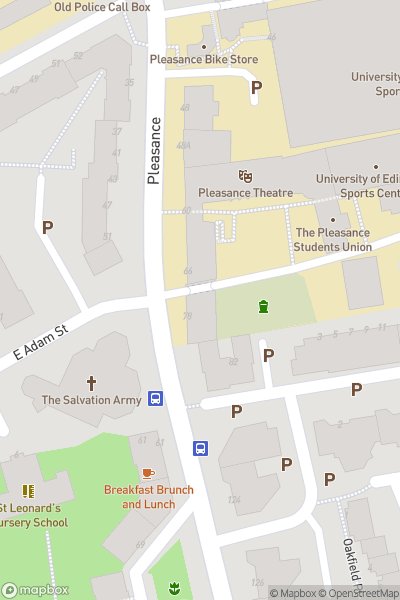 A map indicating the location of Paul Mertons Impro Chums - Edinburgh Fringe