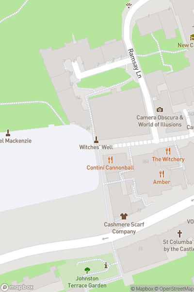 A map indicating the location of Royal Edinburgh Military Tattoo