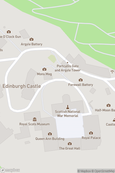 A map indicating the location of Edinburgh Castle