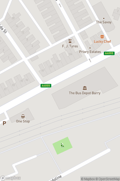 A map indicating the location of Cardiff Transport Preservation Group