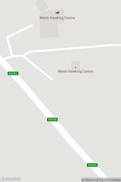 A map indicating the location of Welsh Hawking Centre