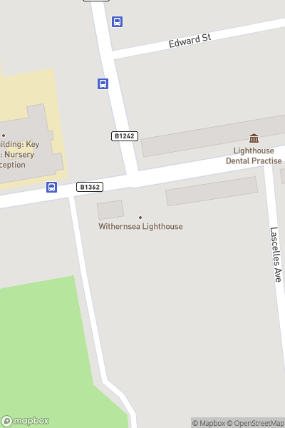 A map indicating the location of Withernsea Lighthouse